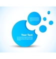 Template with 3d circles vector image vector image