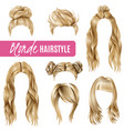 coiffures for blond women set vector image