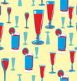 alcohol seamless pattern vector image
