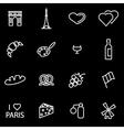 line paris icon set vector image