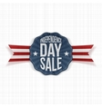 Independence Day Sale vintage Label vector image