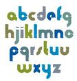 bright calligraphic font handwritten watercolor vector image