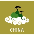 China nature travel flat concept vector image