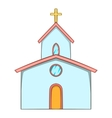 Church icon cartoon style vector image