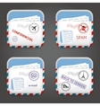 E-mail Apps Icons vector image