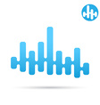 Equalizer bar eq 2d icon vector image