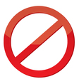 Not Allowed Sign vector image
