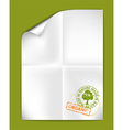 Paper organic vector image