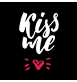 Valentine s Day lettering Isolated vector image