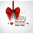 Xmas background with bow vector image