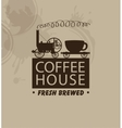 coffee houses with a vintage steam locomotive vector image vector image
