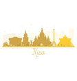 Kiev City skyline golden silhouette vector image