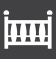 baby crib solid icon baby cot and bed vector image