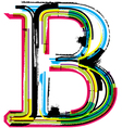 Grunge colorful font Letter B vector image vector image