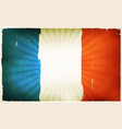 vintage french flag poster background vector image