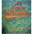 summer slogans hand drawn calligraphy summer vector image