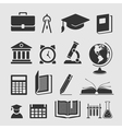 Set of elements of learning vector image vector image