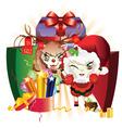 Christmas Sheeping2 vector image vector image