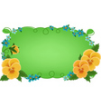 greetings card with pansies vector image vector image