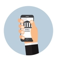 Mobile Banking Payment Flat Concept vector image vector image