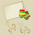 colorful striped mittens vector image
