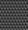 Black cube and shere pattern vector image