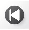 backward icon symbol premium quality isolated vector image