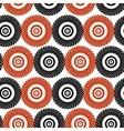Black and red pattern of stylized circles vector image