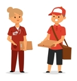 Courier characters workers people vector image