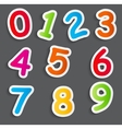 Funny Comic Numbers vector image