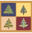 Set of four Christmas trees vector image