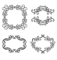 Set of Ornamental Frames for Text vector image