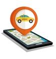 taxi service public smartphone vector image