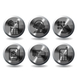 Telephone Icons icons vector image