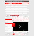 web design template set 20 vector image