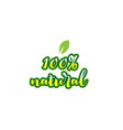 100 natural word font text typographic logo vector image