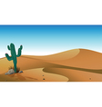 A cactus in the desert vector image vector image