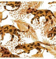 Seamless exotic pattern with palm leaves and vector image