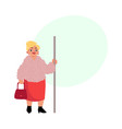 plump middle age woman housewife standing in vector image vector image