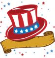 American patriot hat vector image
