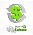 Dollar symbol in green vector image vector image