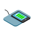 Mat for charging phone icon isometric 3d style vector image