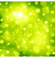 Abstract green background with bokeh lights vector image