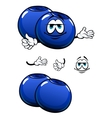 Cartoon smiling fresh blueberry characters vector image