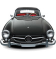classic soft top convertible vector image