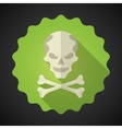 Crosed Bones Flat icon background vector image