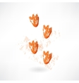 Ducks footprint grunge icon vector image