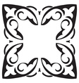 Hand drawing decorative tile frame Italian vector image