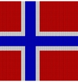 Knitted flag of Norway vector image