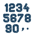 sketched numbers vector image